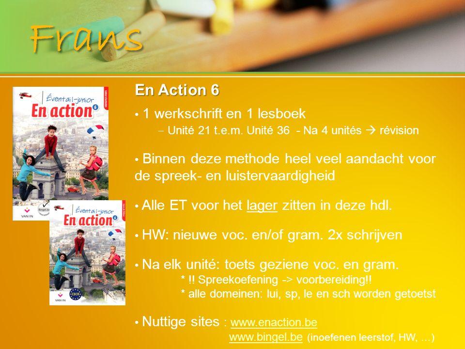 Frans En Action 6 1 werkschrift en 1 lesboek