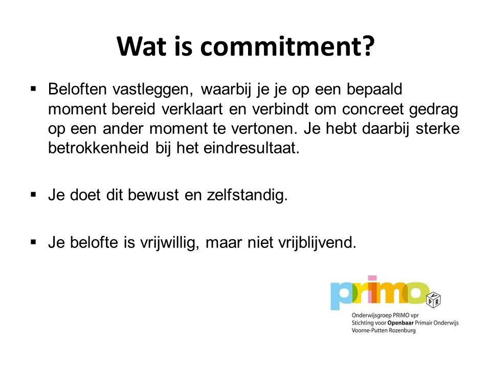 Wat is commitment