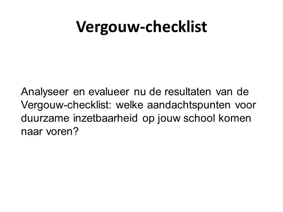 Vergouw-checklist