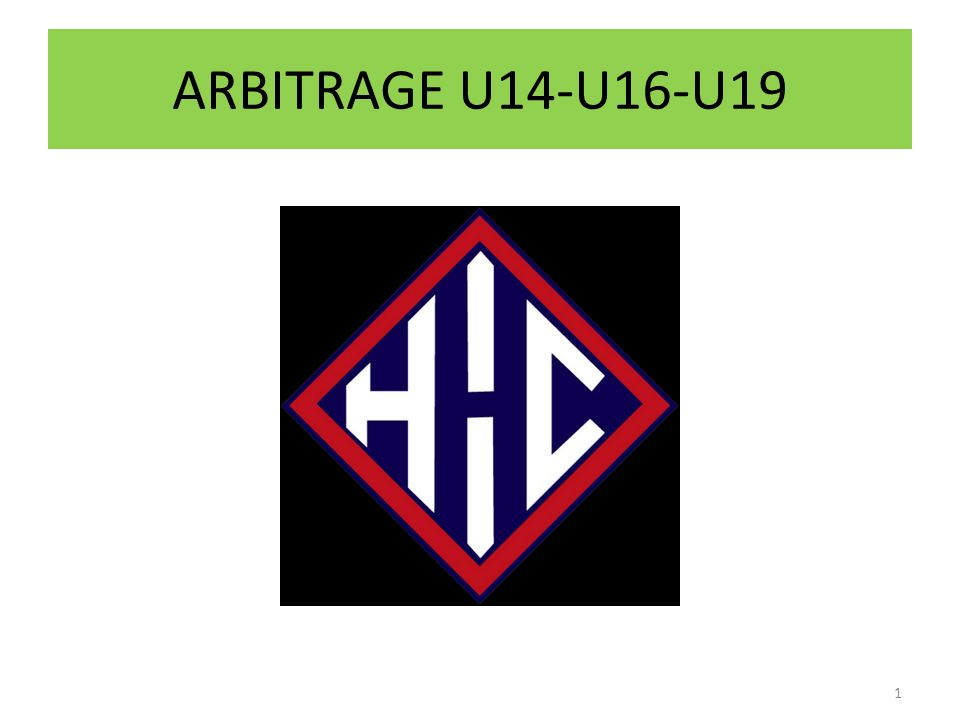 ARBITRAGE U14-U16-U19