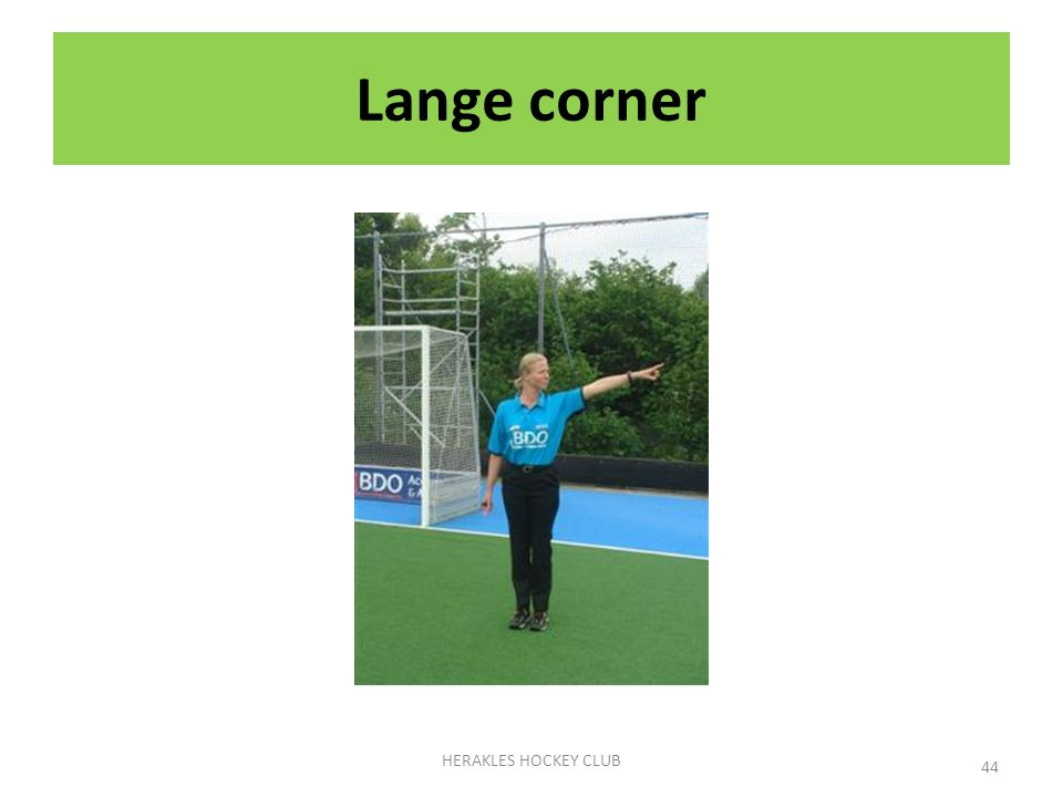 Lange corner HERAKLES HOCKEY CLUB