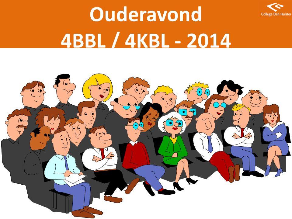 Ouderavond 4BBL / 4KBL - 2014