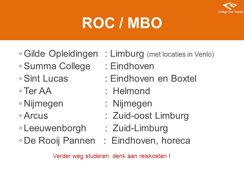 ROC / MBO Gilde Opleidingen : Limburg (met locaties in Venlo)