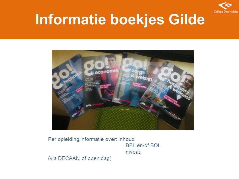 Informatie boekjes Gilde