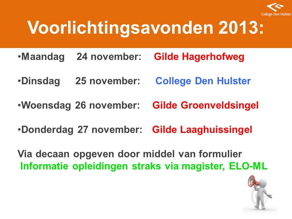 Voorlichtingsavonden 2013: