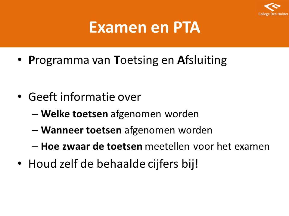 Examen en PTA Programma van Toetsing en Afsluiting