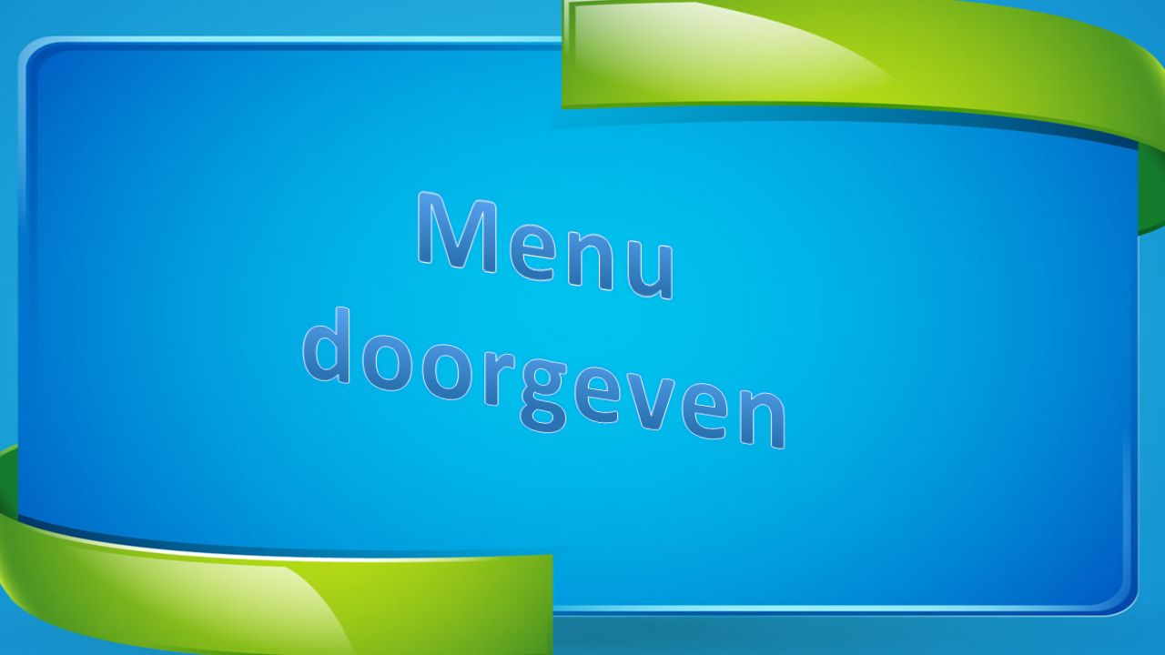 Menu doorgeven