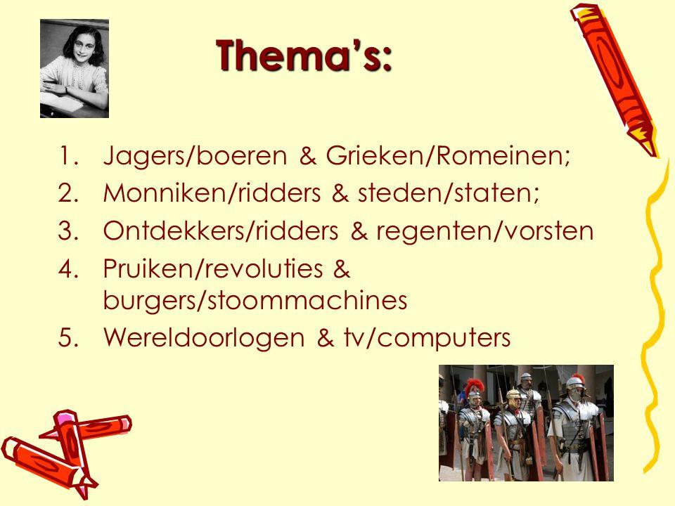 Thema's: Jagers/boeren & Grieken/Romeinen;
