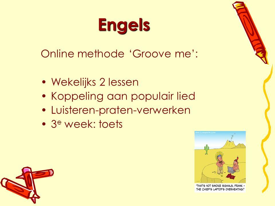 Engels Online methode 'Groove me': Wekelijks 2 lessen