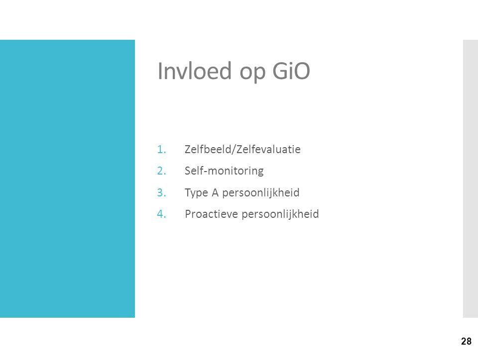 Invloed op GiO Zelfbeeld/Zelfevaluatie Self-monitoring