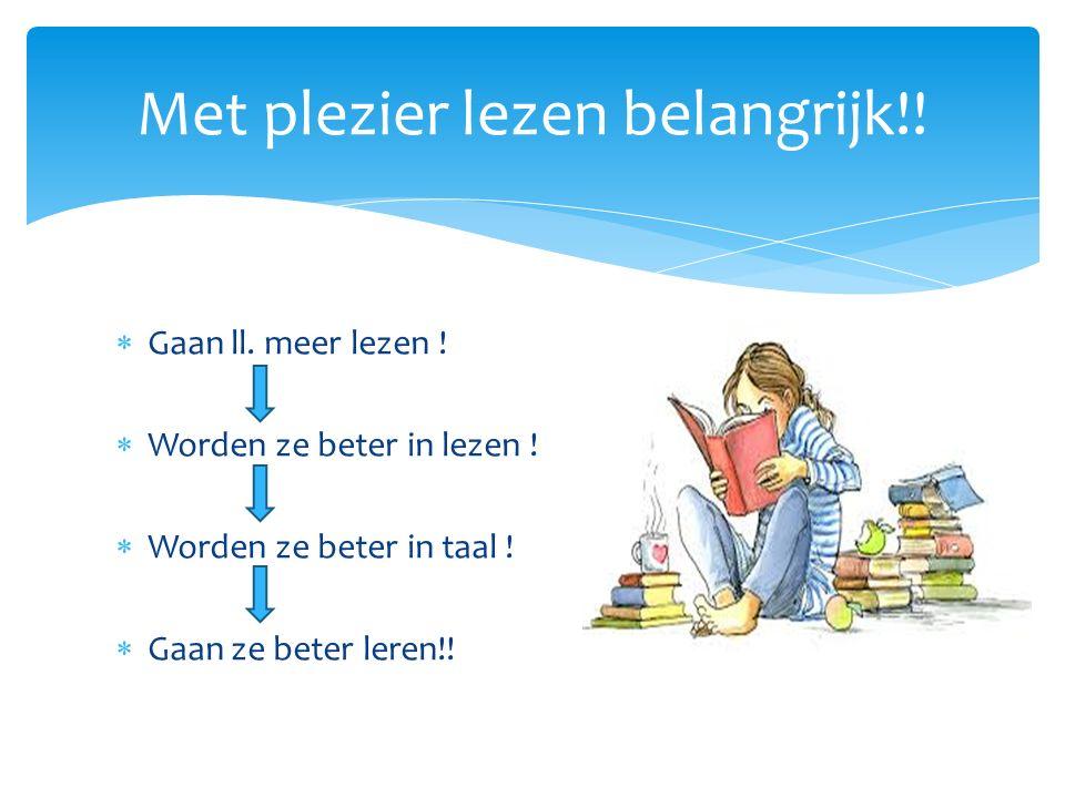 Met plezier lezen belangrijk!!