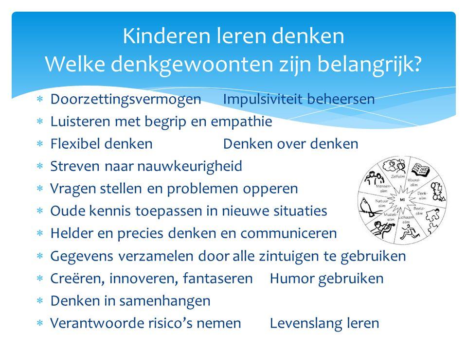 Kinderen leren denken Welke denkgewoonten zijn belangrijk