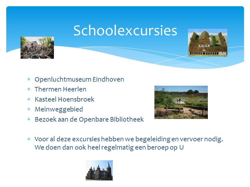Schoolexcursies Openluchtmuseum Eindhoven Thermen Heerlen