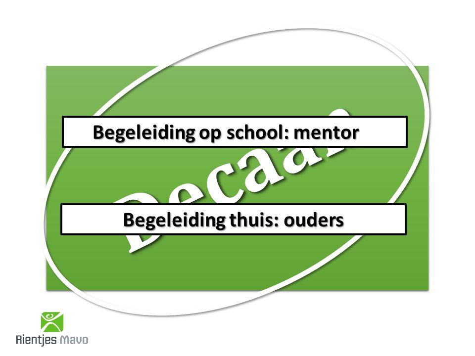 Begeleiding op school: mentor Begeleiding thuis: ouders