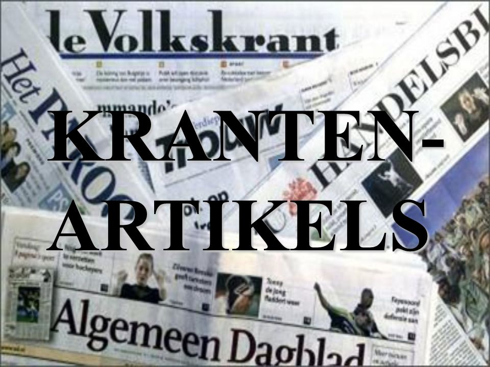 KRANTEN-ARTIKELS
