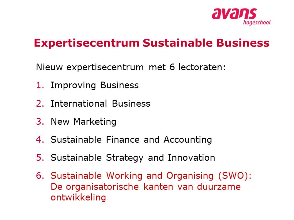 Expertisecentrum Sustainable Business
