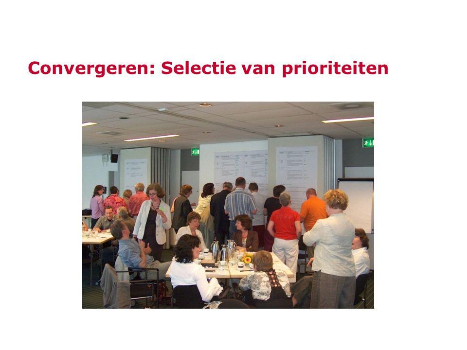 Convergeren: Selectie van prioriteiten