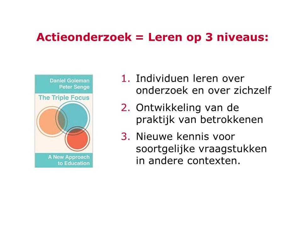 Actieonderzoek = Leren op 3 niveaus: