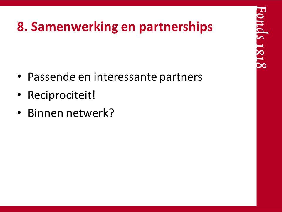 8. Samenwerking en partnerships