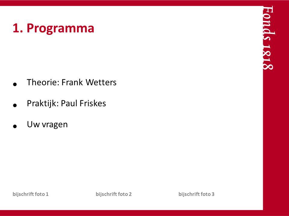 Theorie: Frank Wetters Praktijk: Paul Friskes Uw vragen