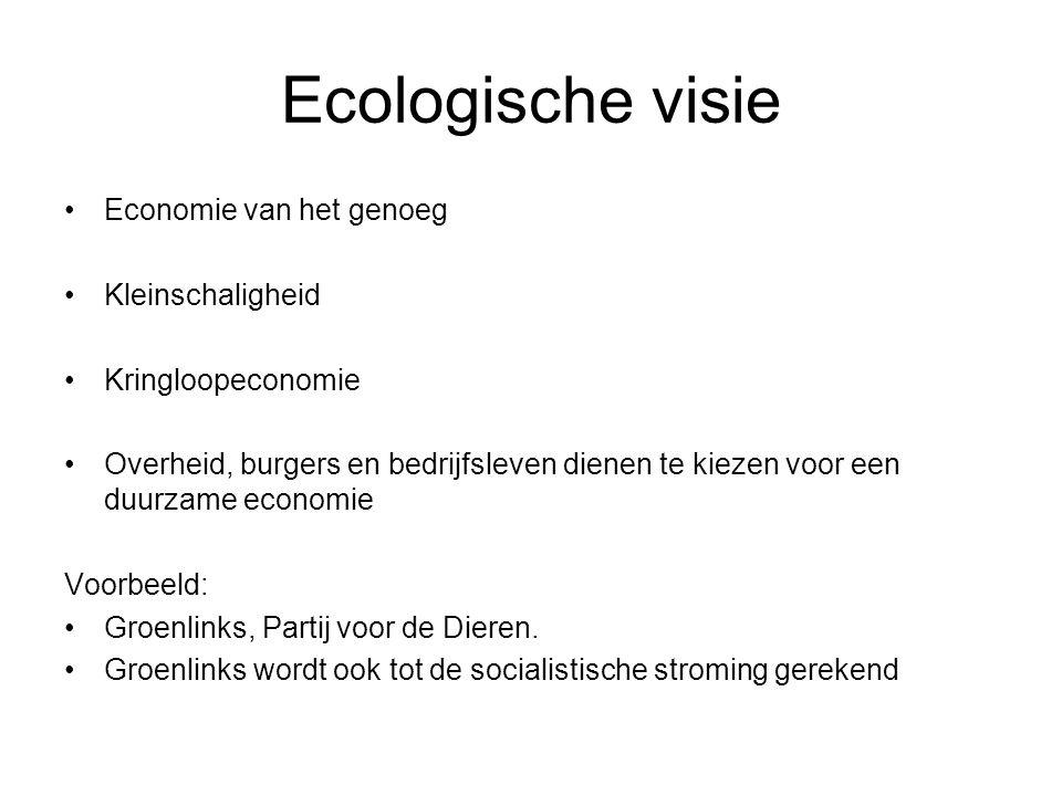 Ecologische visie Economie van het genoeg Kleinschaligheid