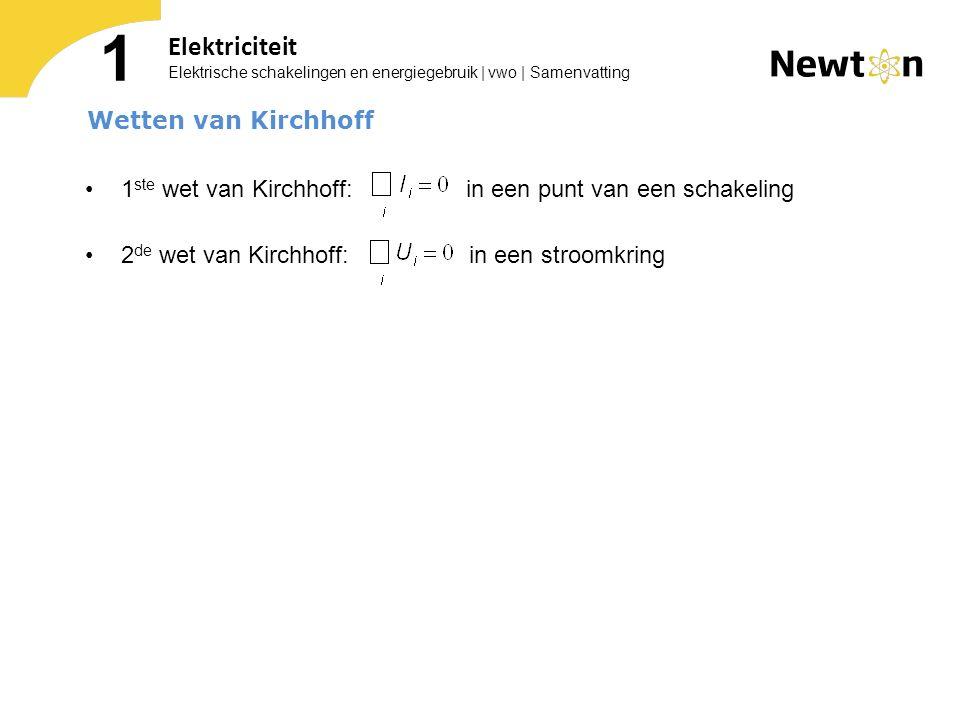 1 Elektriciteit Wetten van Kirchhoff