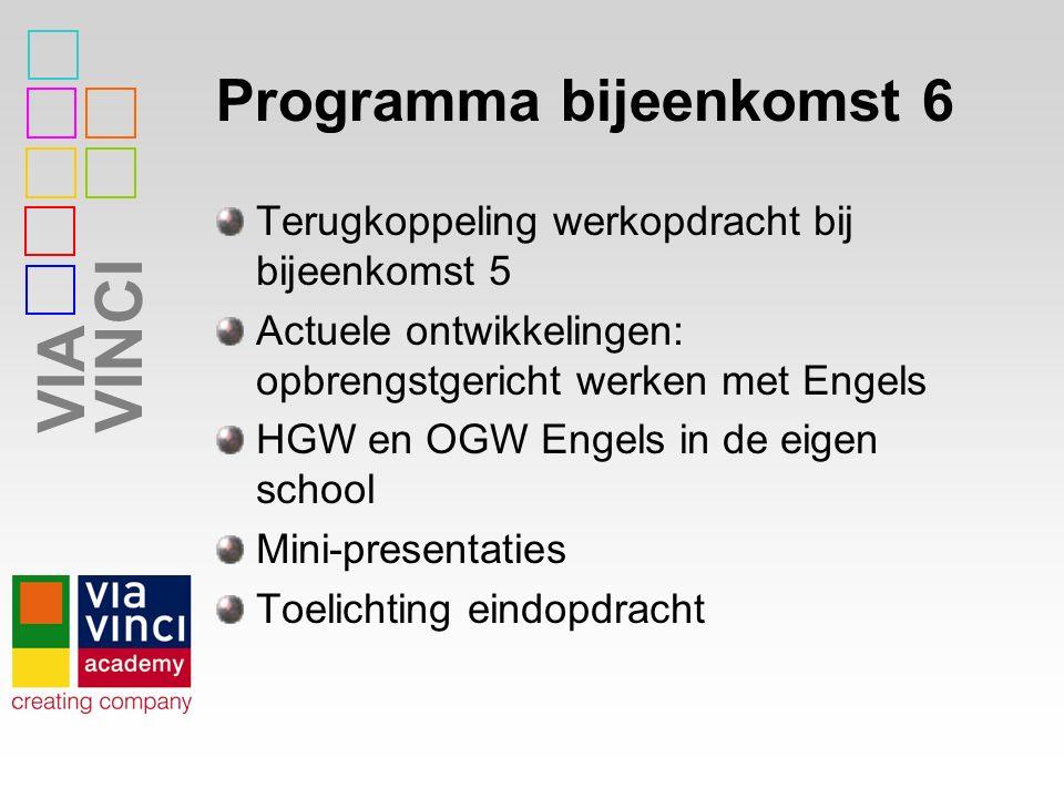 Programma bijeenkomst 6