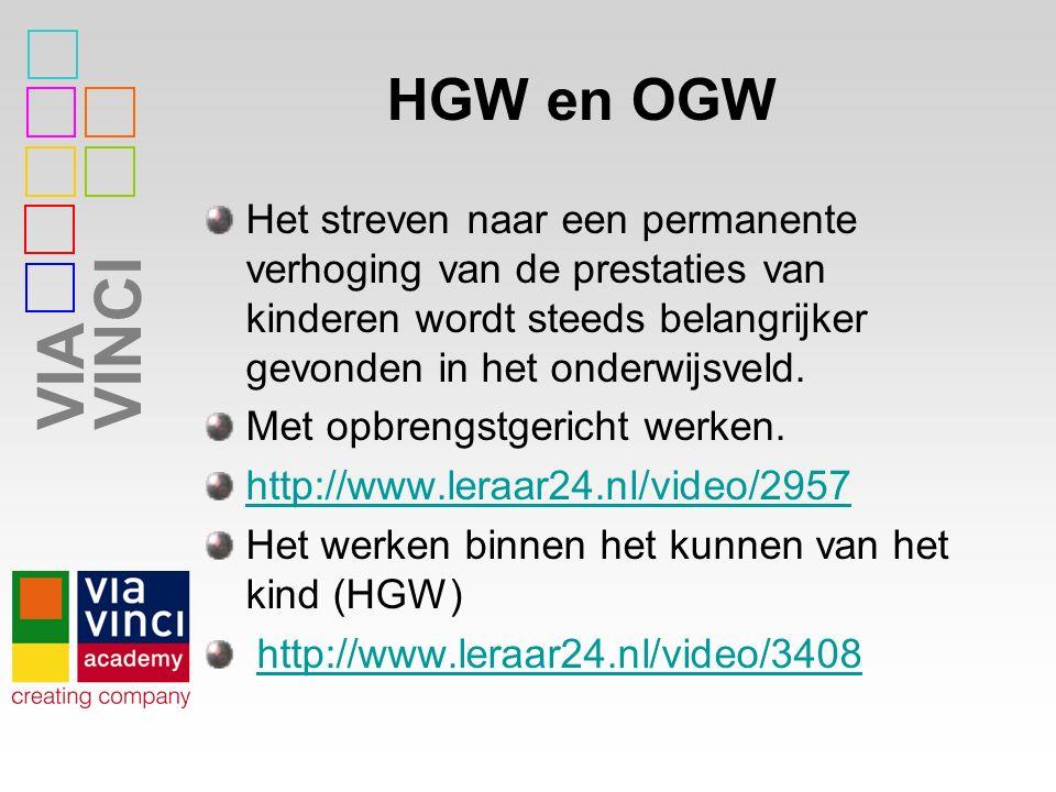 HGW en OGW Het streven naar een permanente verhoging van de prestaties van kinderen wordt steeds belangrijker gevonden in het onderwijsveld.