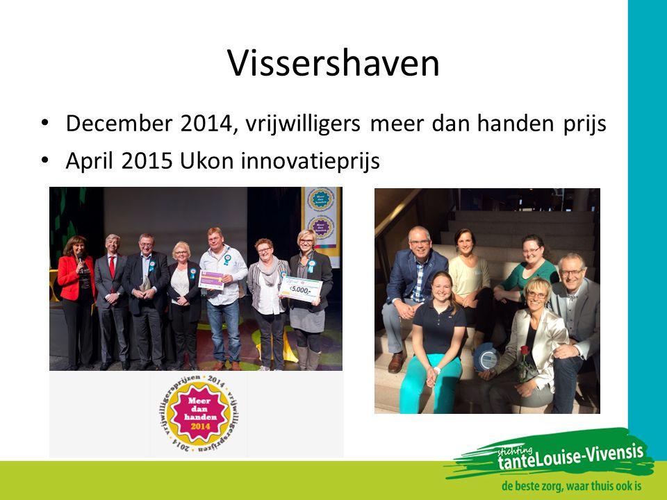 Vissershaven December 2014, vrijwilligers meer dan handen prijs