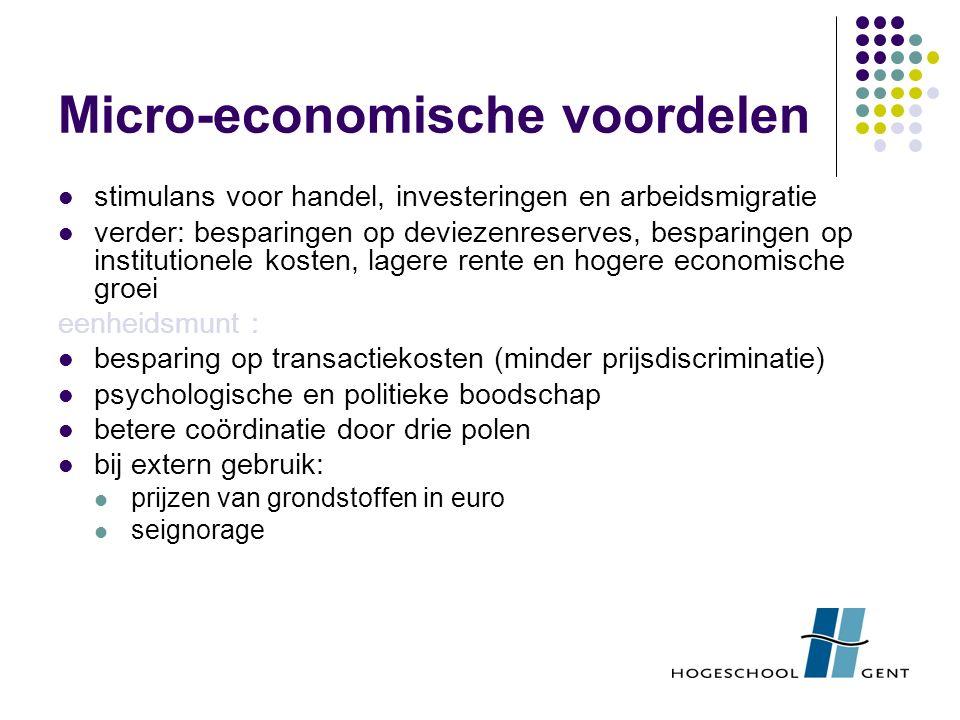 Micro-economische voordelen