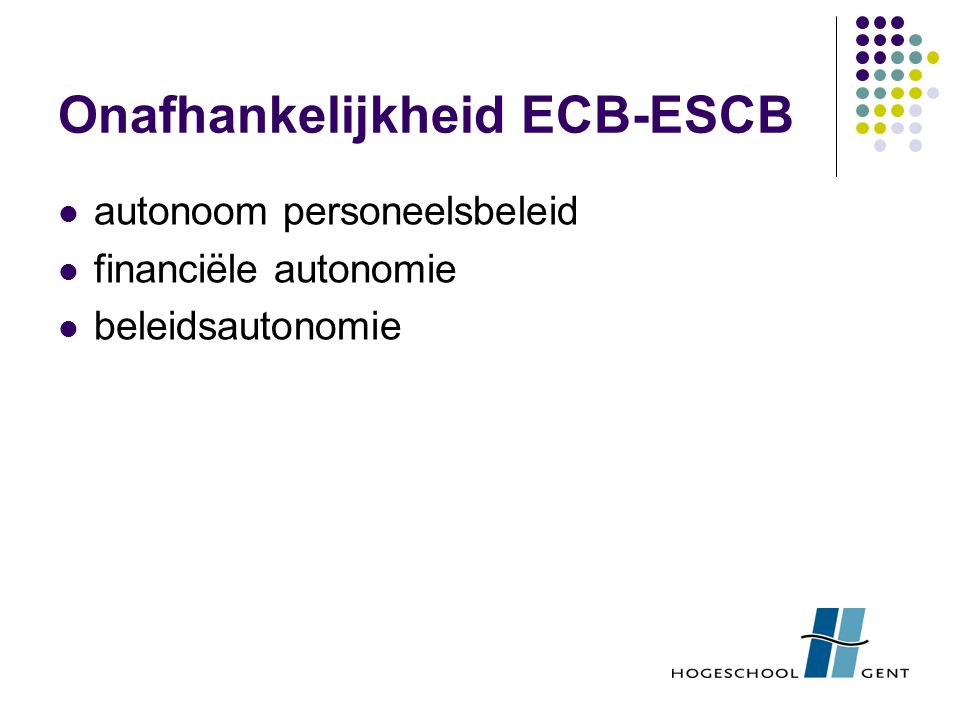 Onafhankelijkheid ECB-ESCB