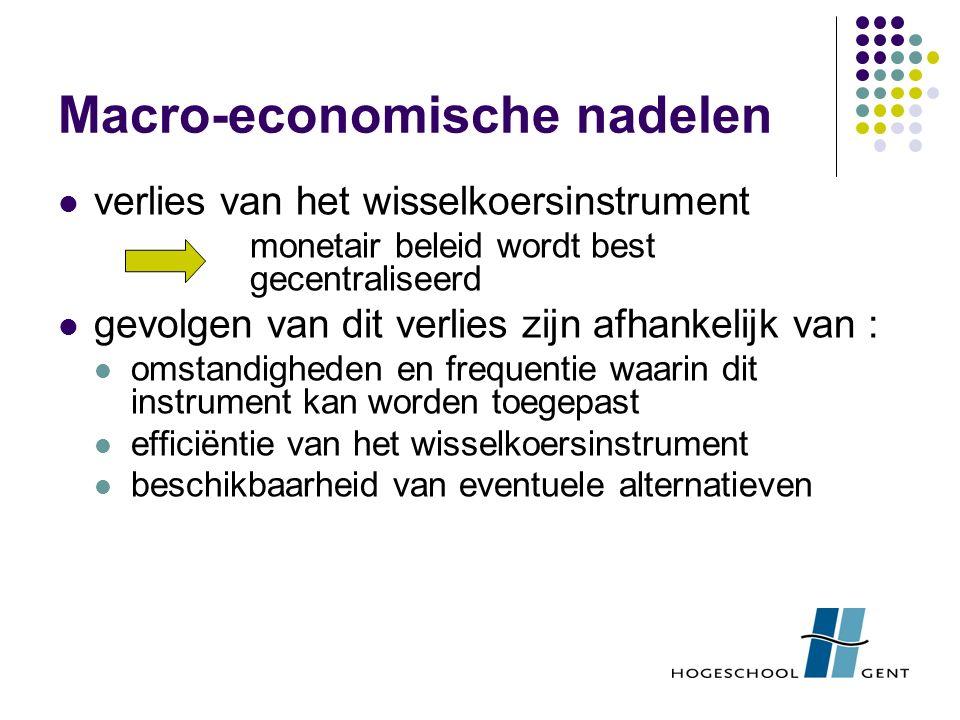 Macro-economische nadelen