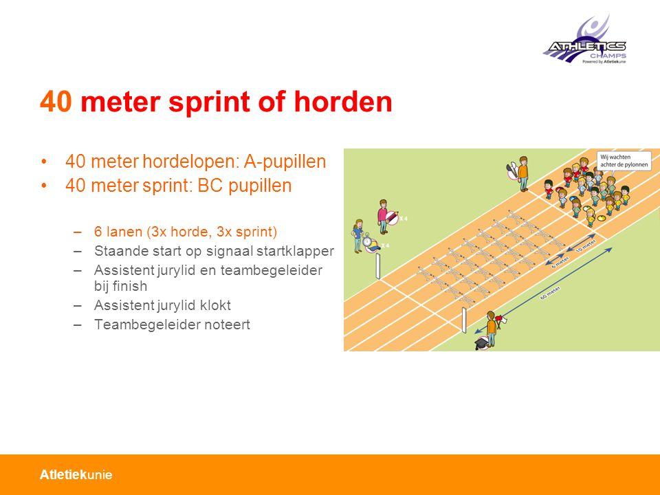 40 meter sprint of horden 40 meter hordelopen: A-pupillen