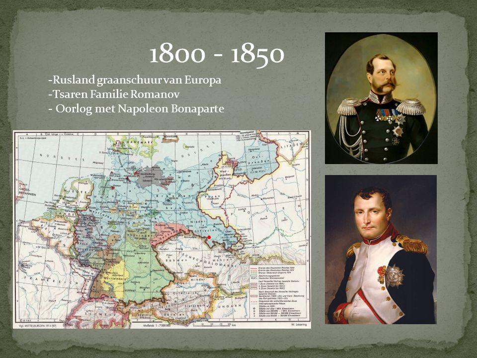 1800 - 1850 Rusland graanschuur van Europa Tsaren Familie Romanov