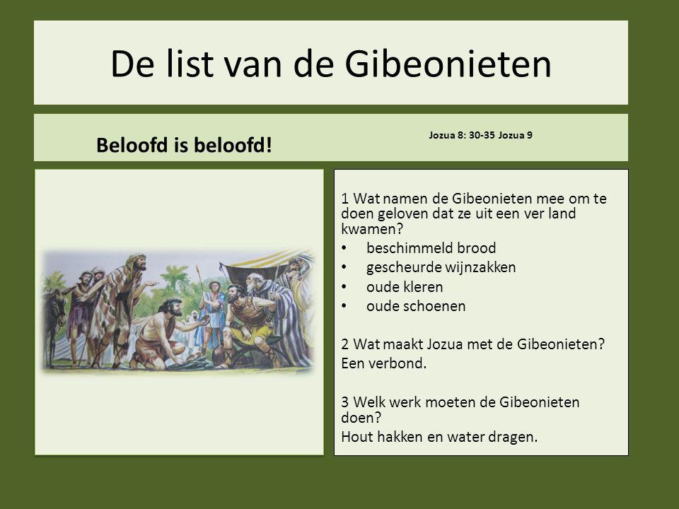 De list van de Gibeonieten