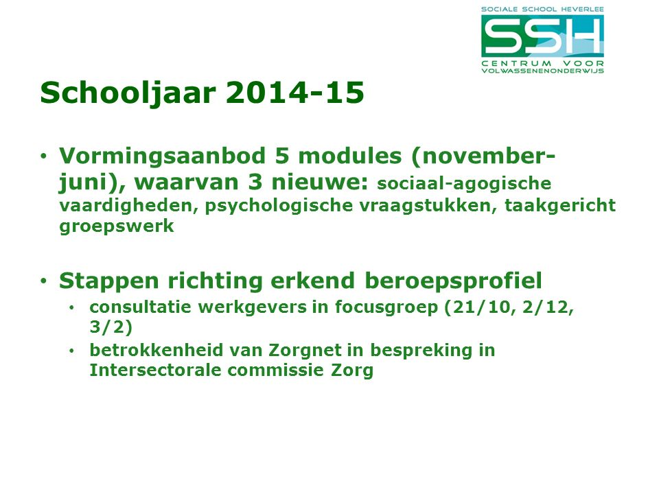 Schooljaar 2014-15