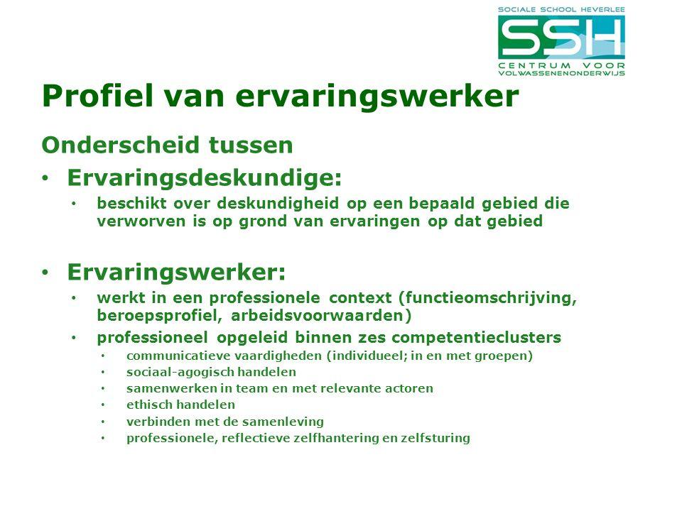Profiel van ervaringswerker