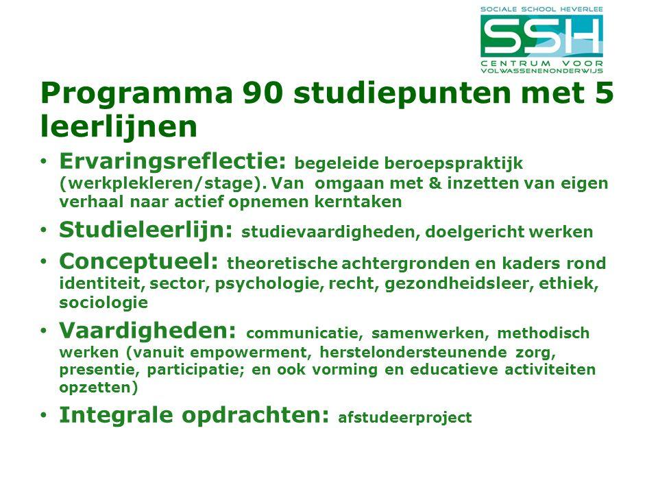 Programma 90 studiepunten met 5 leerlijnen