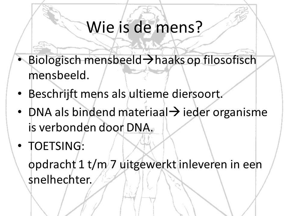 Wie is de mens Biologisch mensbeeldhaaks op filosofisch mensbeeld.