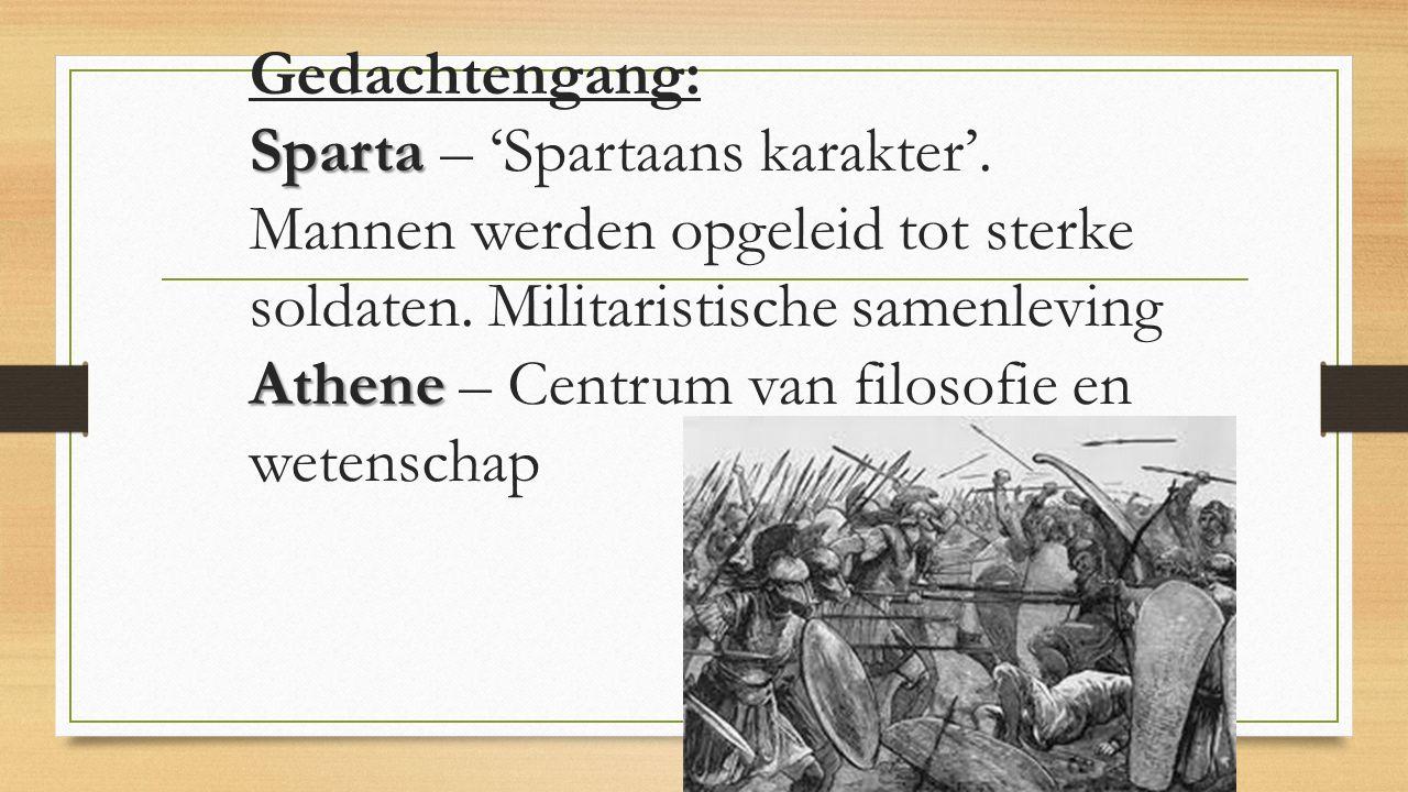 Gedachtengang: Sparta – 'Spartaans karakter'