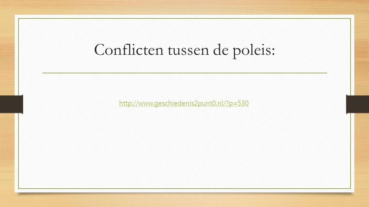 Conflicten tussen de poleis: