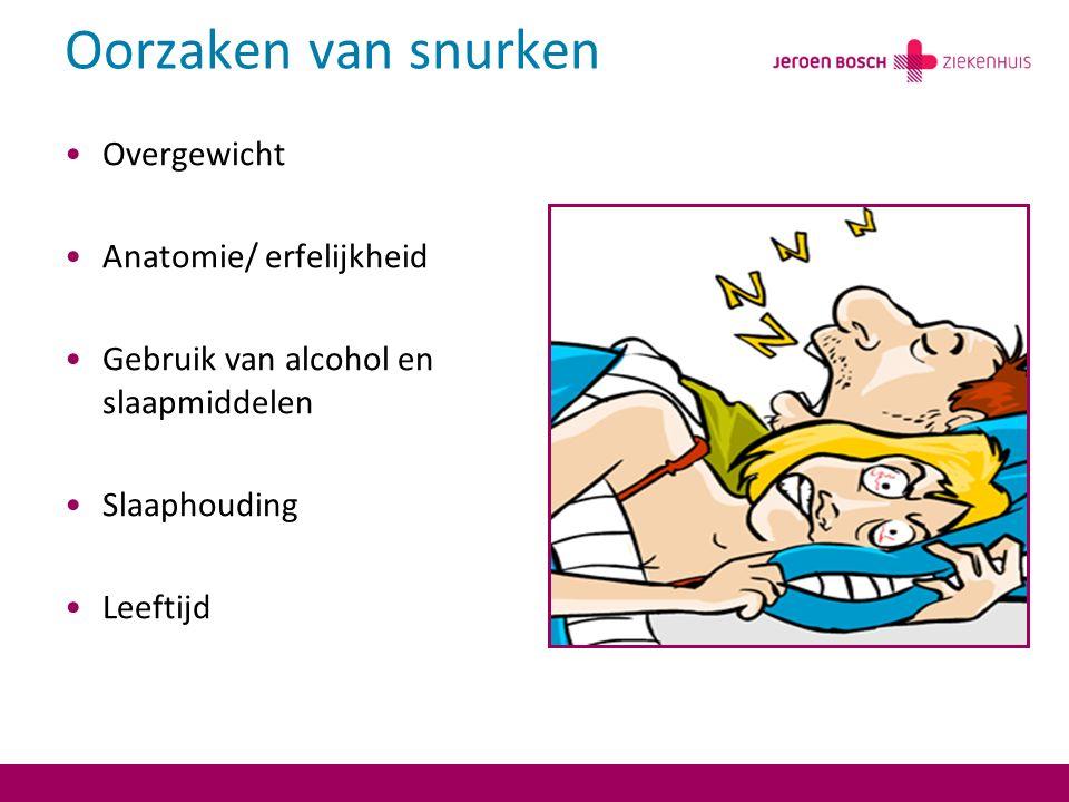 Oorzaken van snurken Overgewicht Anatomie/ erfelijkheid