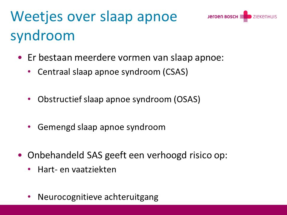 Weetjes over slaap apnoe syndroom