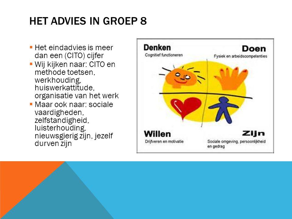 Het advies in groep 8 Het eindadvies is meer dan een (CITO) cijfer