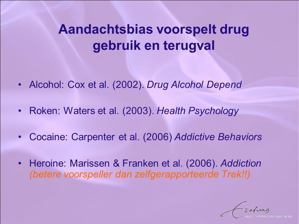 Aandachtsbias voorspelt drug gebruik en terugval