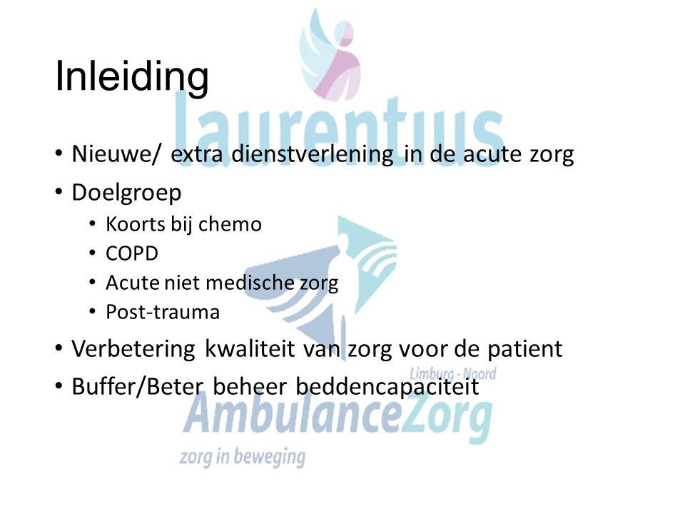 Inleiding Nieuwe/ extra dienstverlening in de acute zorg Doelgroep