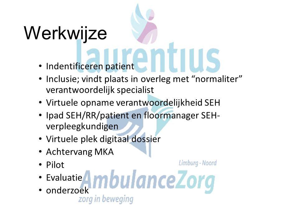 Werkwijze Indentificeren patient