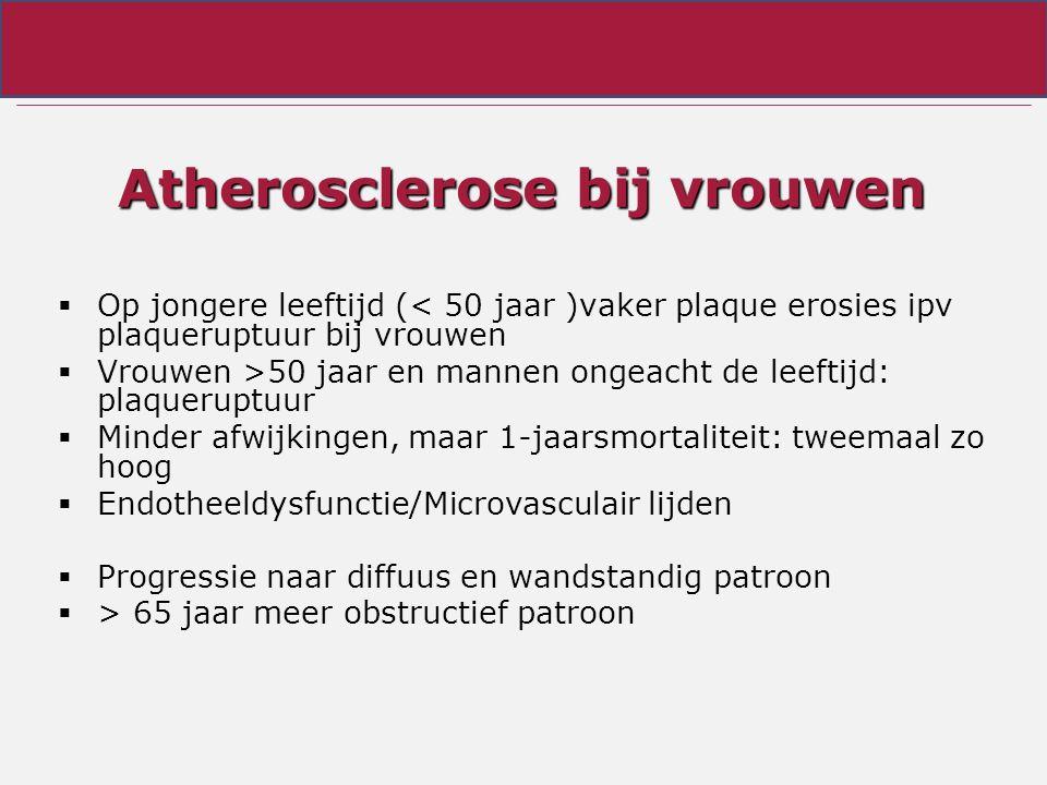Atherosclerose bij vrouwen