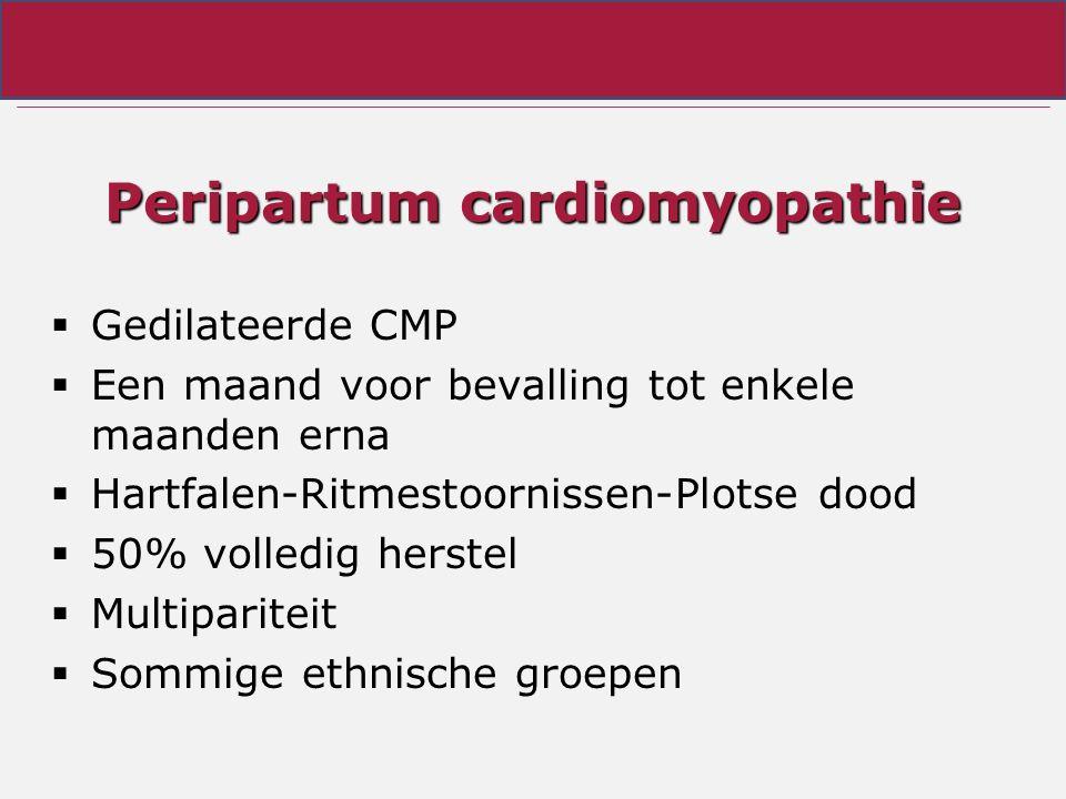 Peripartum cardiomyopathie