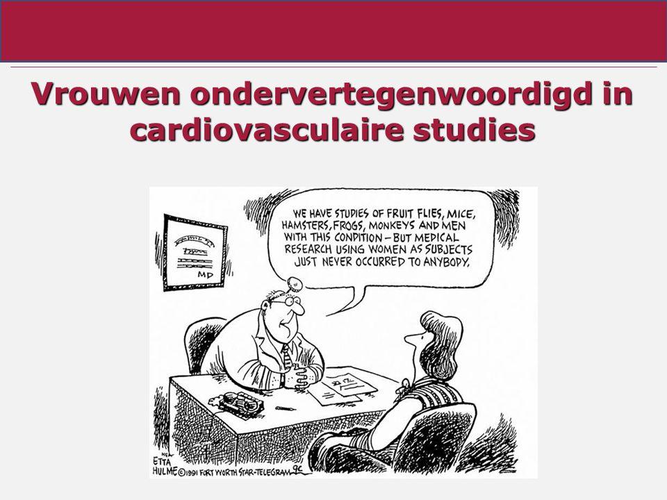 Vrouwen ondervertegenwoordigd in cardiovasculaire studies